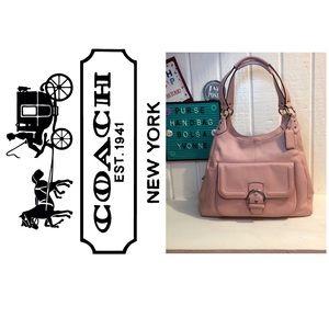Coach Campbell Pink Leather Hobo Purse Handbag 👜